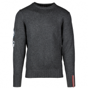Amundsen Peak - Men crew neck L, Faded Black Melange