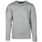 Amundsen Peak - Men crew neck L, Light Grey Melange