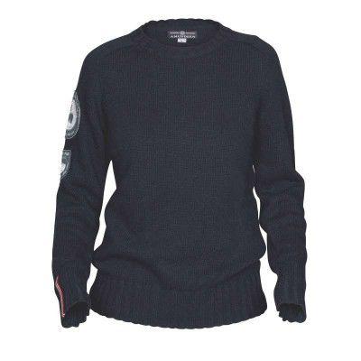 Woman Peak Sweater L, Blue Melange Längdskidan