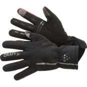 Bike Siberian Glove 8, Black/Red