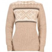Voss Feminine Sweater XL, Warm Taupe/Offwhite/Black