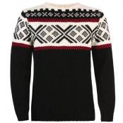Voss Masculine Sweater L, Black/Offwhite/Raspberry