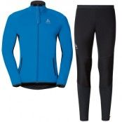 Set STRYN Men's L, Directoire Blue/Odlo Graphite