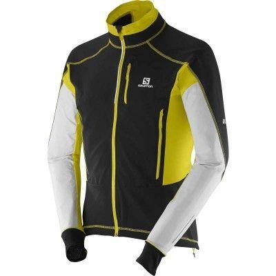 S-Lab Motion Fit WS Jacket M S, Black/White/Corona Yellow