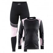 Craft Baselayer Set W Dk Grey Melange