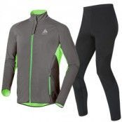 Stryn Men's Set S, Odlo Graphite Grey - Green Fla